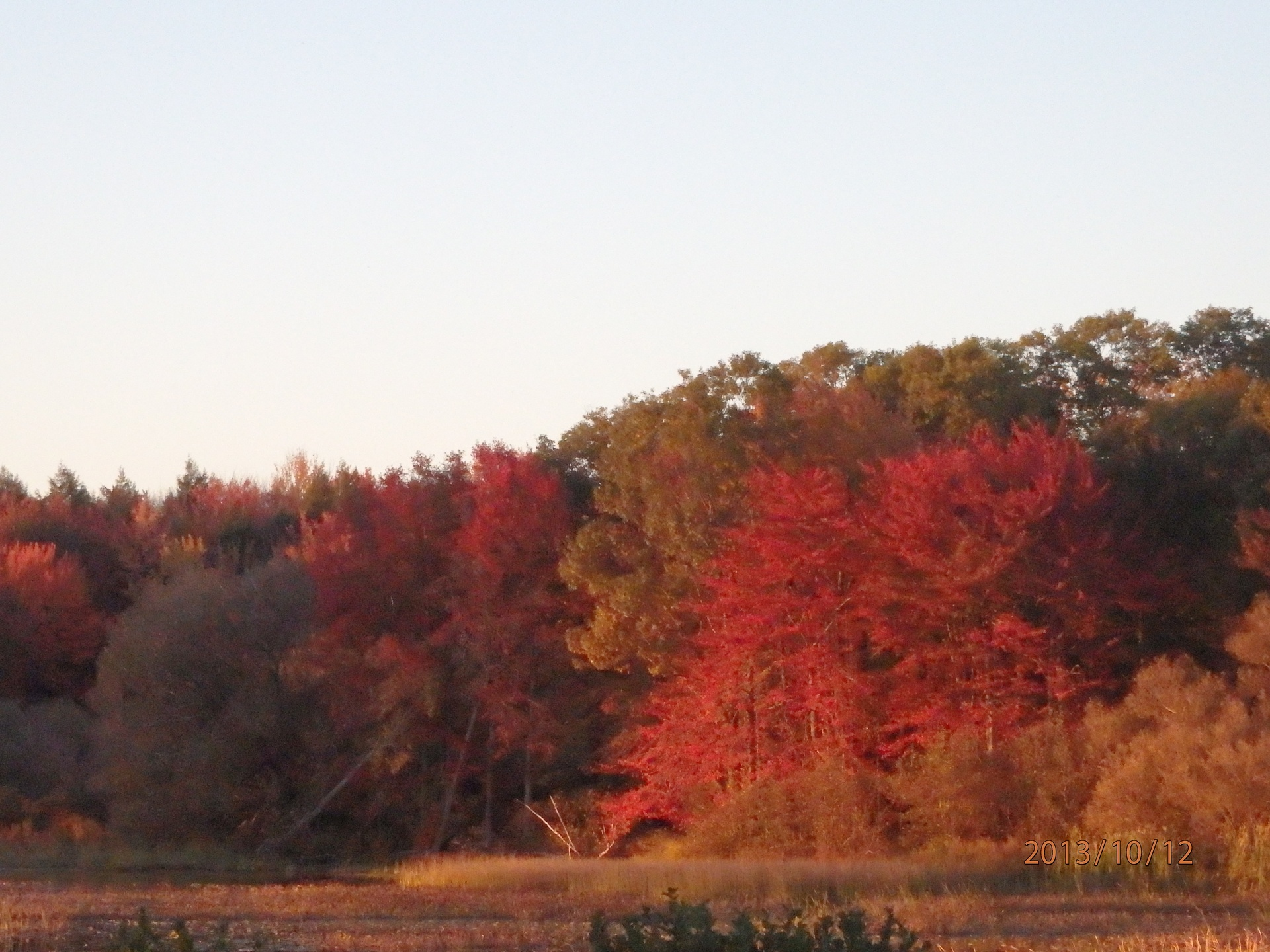 Fall sunset in upstate NY